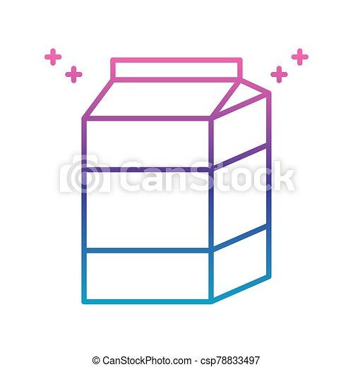milk box icon, gradient line style - csp78833497