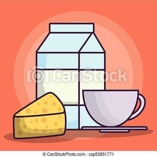 milk box icon - csp55851771
