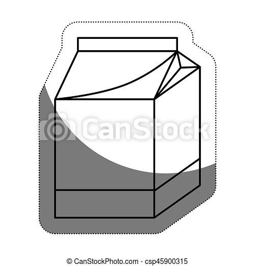 milk box icon - csp45900315