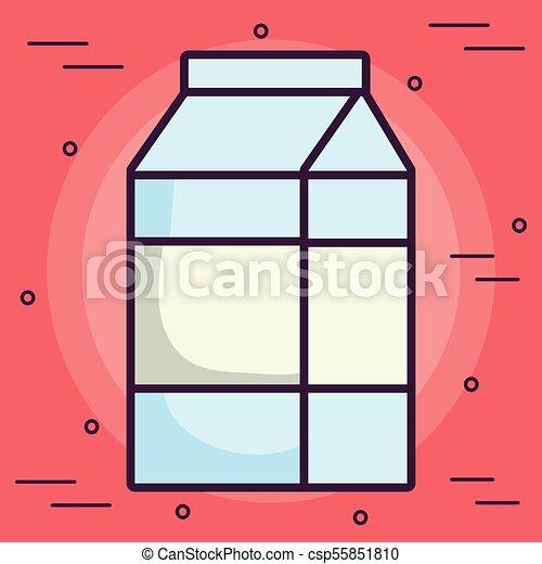 milk box icon - csp55851810