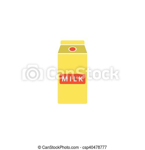 Milk box Icon Vector - csp40478777