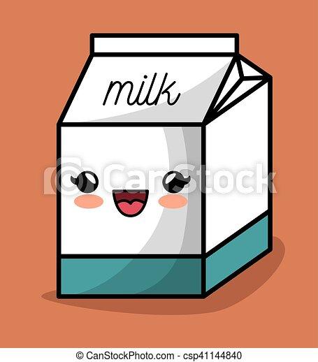 milk box kawaii happy icon design - csp41144840