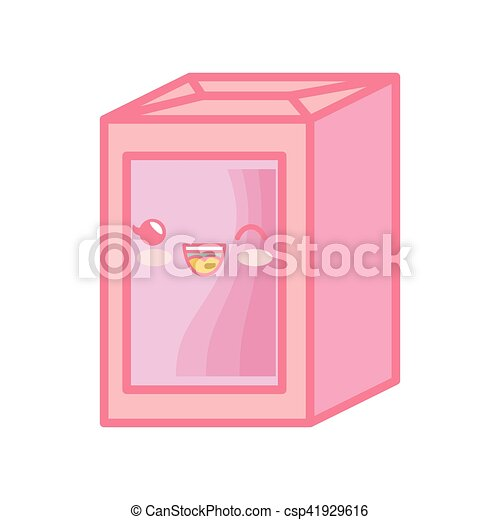 milk box kawaii style carton isolated icon - csp41929616