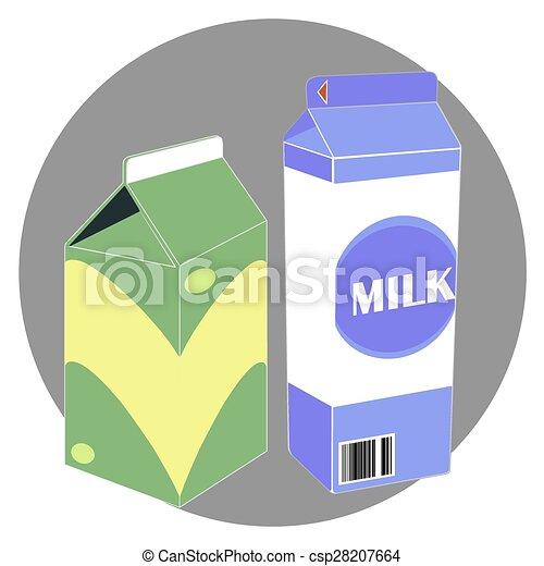 Milk Carton Box Template