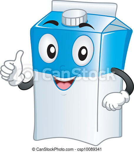 Milk Carton Mascot - csp10089341