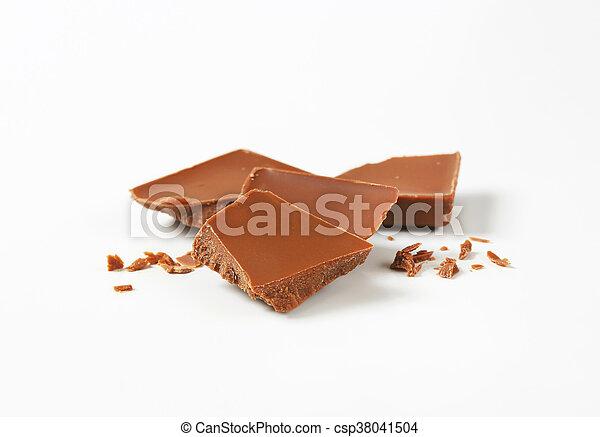 milk chocolate pieces - csp38041504