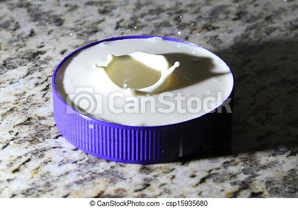 Milk Drops - csp15935680