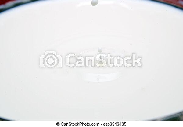Milk Drops - csp3343435
