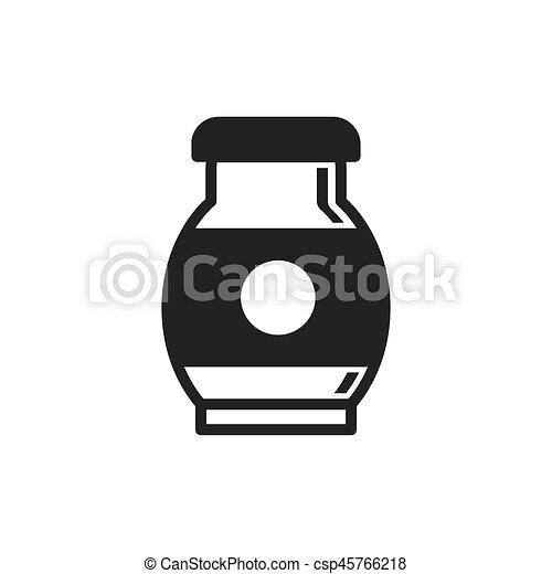 Milk Farm icon black color - csp45766218