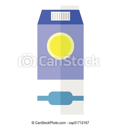 Milk flat icon - csp31712167