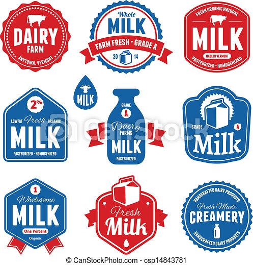 Milk labels - csp14843781
