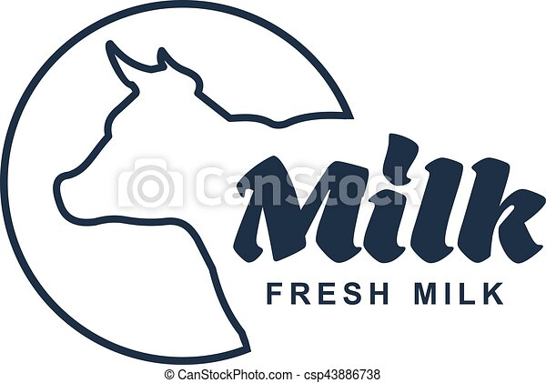 Milk Vector Logo Milk Elegant Vector Logo Template Label Sticker