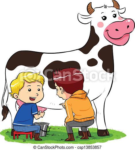 boy milking