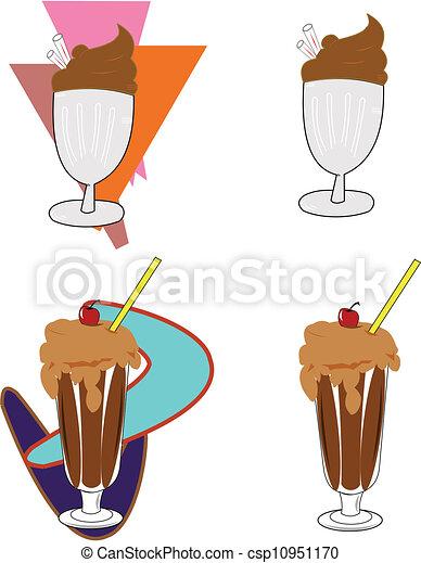 milkshakes - csp10951170