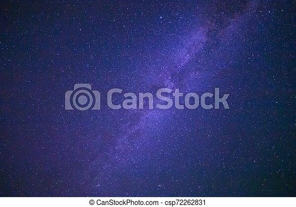 Milky Way galaxy in night sky - csp72262831