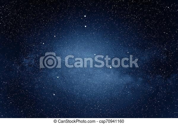 Milky Way galaxy in the night sky. - csp70941160
