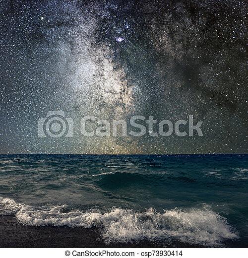 Milky Way Over The Sea - csp73930414