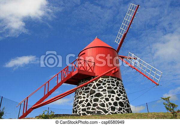 mill in Azores - csp6580949