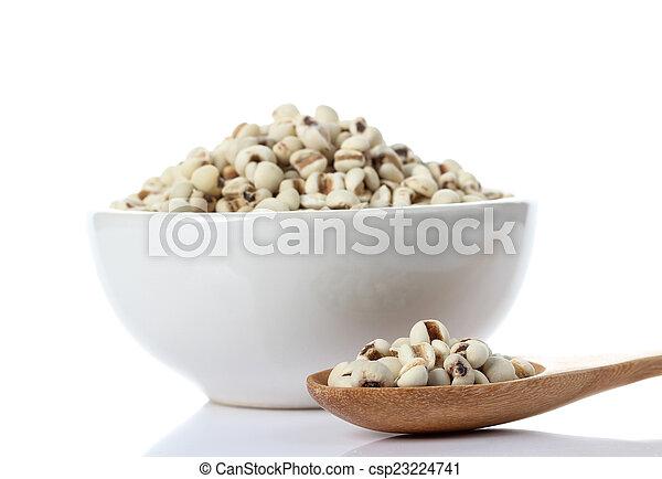 Millet on white background - csp23224741