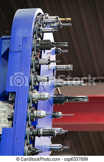 Milling head of a CNC milling machine - csp6337699