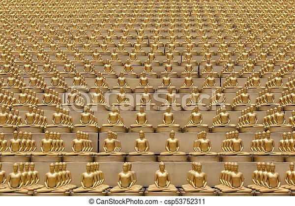 Million Golden Buddha Figurine In Wat Phra Dhammakaya Buddhist