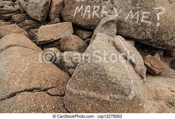 mim, casar, palavras, pedras - csp12278263