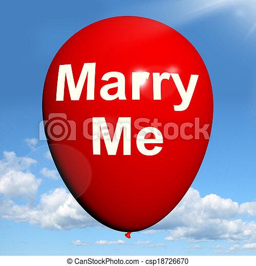 mim, representa, amantes, proposto, casar, obrigação, balloon - csp18726670