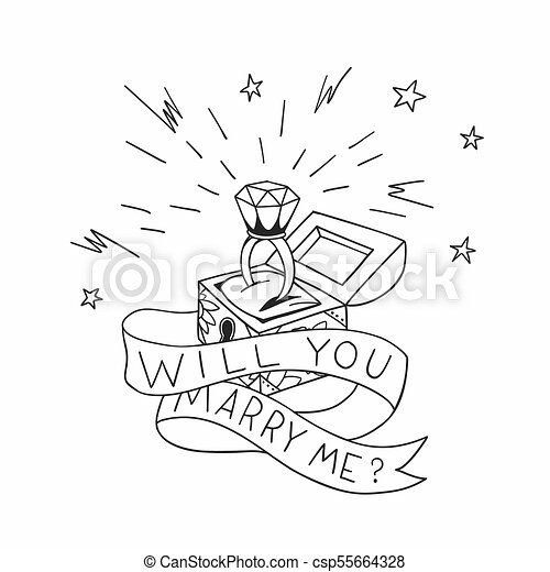 Mim Tatuagem Diamante Illustration Brilhante Casar Morto