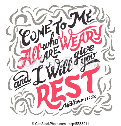 mim, tudo, bíblia, citação, cansado, venha - csp45588211