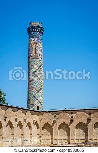 Minaret, Samarkand, Uzbekistan - csp48300085