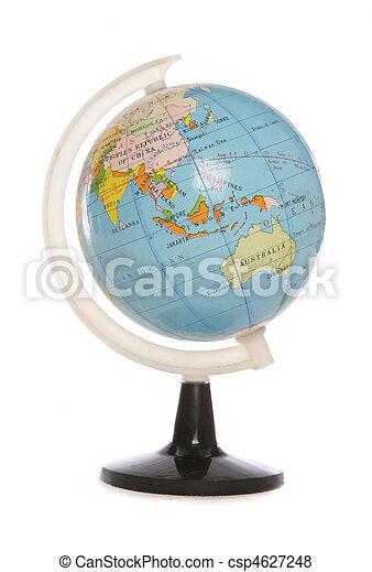 Minature world globe - csp4627248