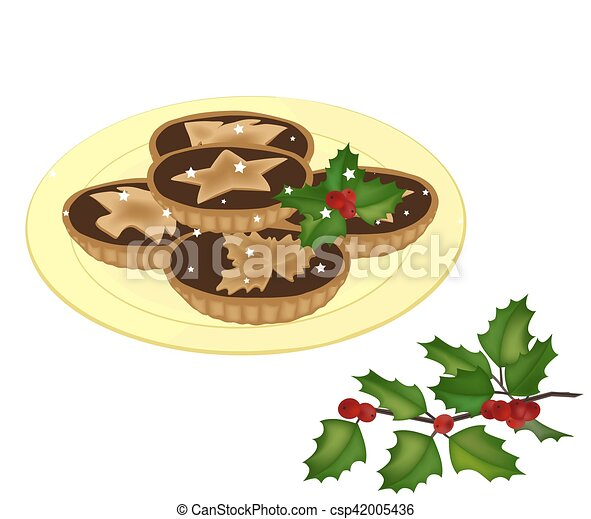 Mince Pies On A Plate Vector  sc 1 st  Can Stock Photo & Mince pies on a plate vector. Mince pies on a plate and a... vectors ...