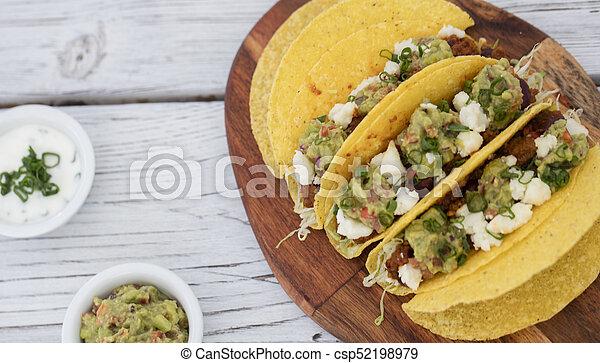minced beef tacos - csp52198979
