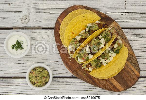 minced beef tacos - csp52199751