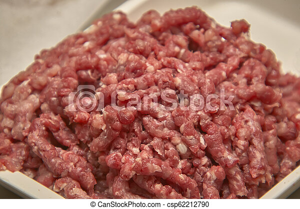 Minced bovine crane for food production. - csp62212790