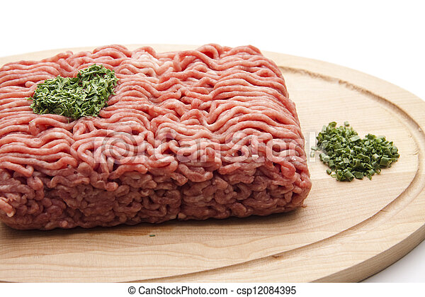 Minced Meat with parsley - csp12084395