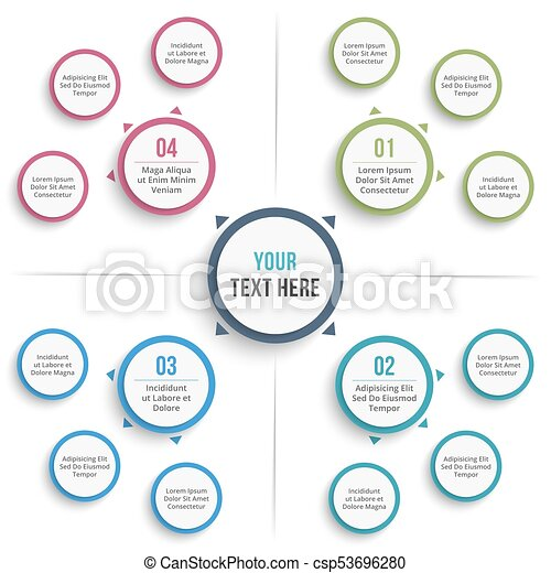 Colorful Mind Mapping Template Word Illustration Resume Ideas