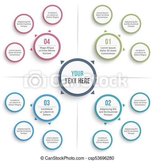 Mind Map Template Absrtact Mind Map Template Business Infographics
