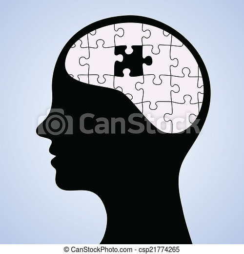 Mind puzzle missing piece - csp21774265