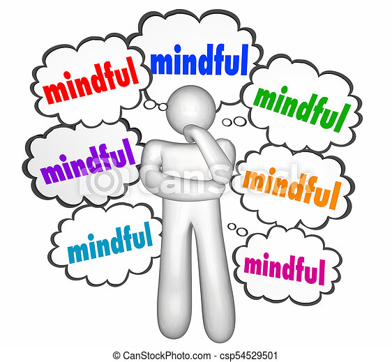 mindful speech bubbles thinker thinking person mindfulness stock rh canstockphoto ie think clip art free clipart thinker