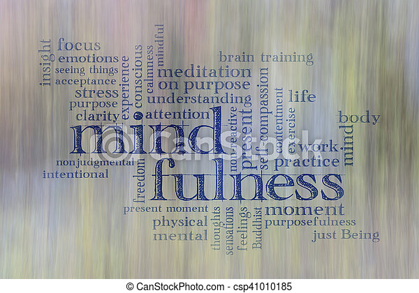 mindfulness word cloud - csp41010185