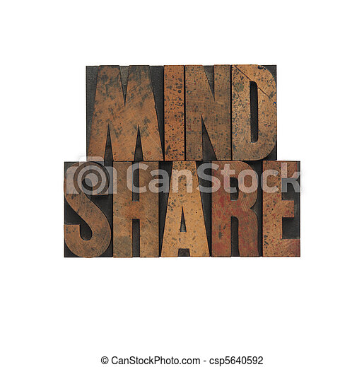 mindshare in old wood type - csp5640592