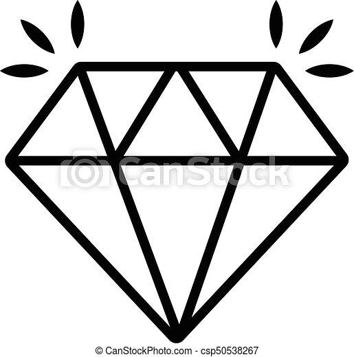 Mine diamond icon , outline style. Mine diamond icon. outline illustration of mine ...