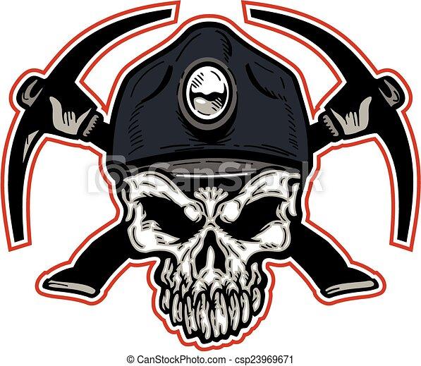 mineiro carvão, cranio - csp23969671