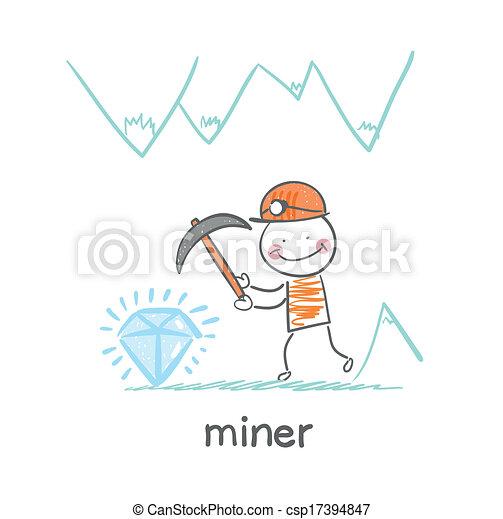 miner found a gem - csp17394847
