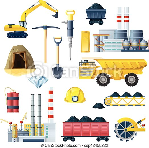 mineração, jogo, indústria, ícone - csp42458222