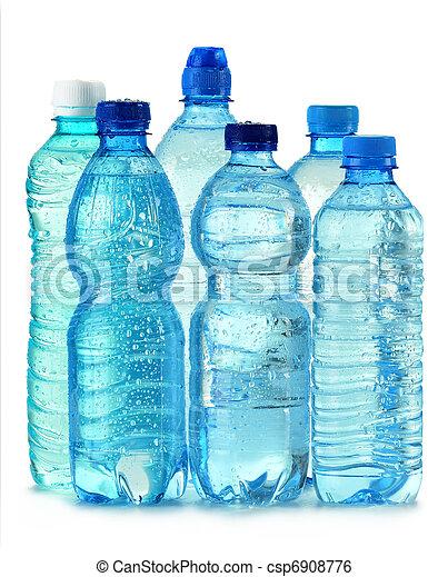 mineraal, vrijstaand, plastic, water, polycarbonate, fles, witte  - csp6908776