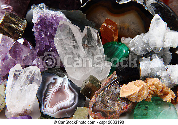 mineral collection - csp12683190