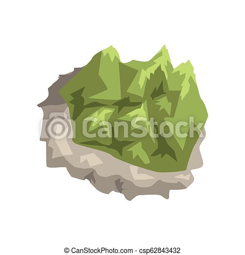 Mineral stone, geological industry element vector Illustration on a white background - csp62843432