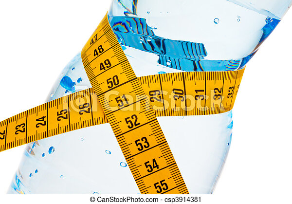 Mineral water. Symbol F??? ? r weight loss - csp3914381